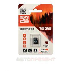 Карта пам'яті Mibrand microSDHC 16GB