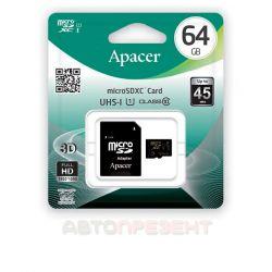 Карта пам'яті Apacer microSDXC 64GB