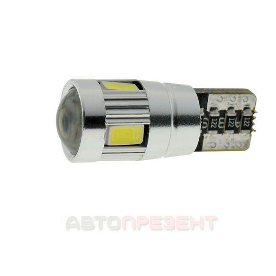 Светодиодная автолампаT10-062 CAN 5630-6 12V SD