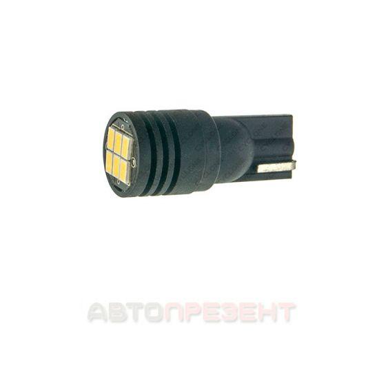 Светодиодная автолампаT10-077 3020-6 ULTRA 12-12V MJ