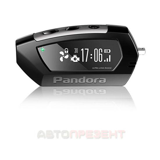 Брелок к сигнализации двусторонний Pandora LCD D010 black DX 90