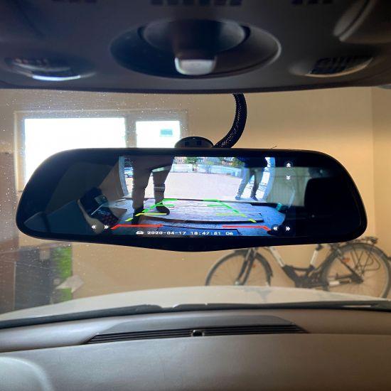 Установка дзеркала з камерою заднього огляду (підключення живлення від ACC, прихований монтаж проводки)
