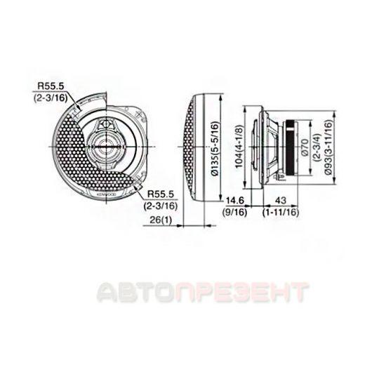 Автомобільна акустика Kenwood KFC-PS1095