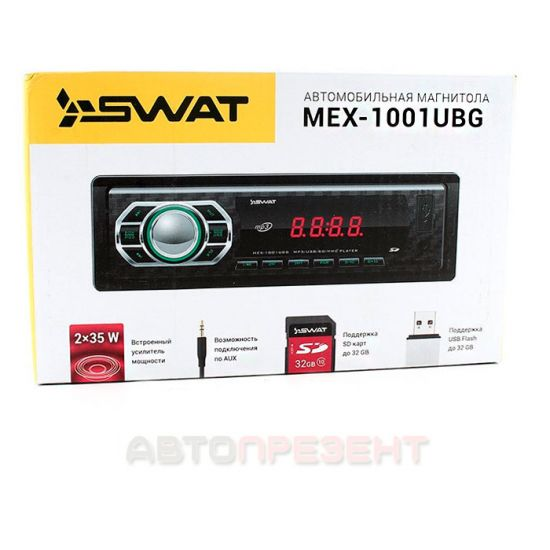 Автомагнитола SWAT MEX1001UBG